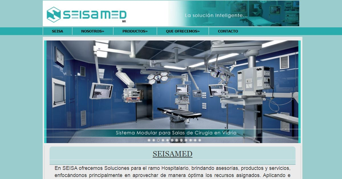 Sitio Web Seisamed Soluciones Hospitalarias